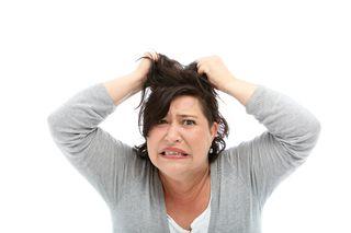 Mom pulling hair